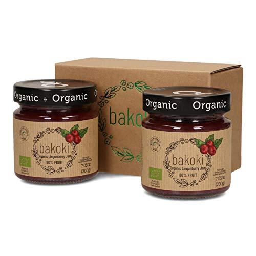 Bakoki® Premium BIO Preiselbeere Konfitüre 80% Obst ( 2 x 200g)