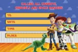 Toy Story Invitation Cards – 20 Fill-in Invites for Kids Birthday Bash and Theme Party, 10X15 cm, Postcard Style…