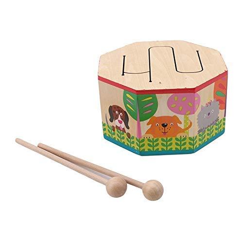 Detazhi Kinder Spielzeug Holztrommel für frühe Bildung Musical Spielzeug für Kinder Drum Musikinstrumente Lernen Bildung Puzzle Spielzeug (Farbe: Bunt) (Color : Colorful)