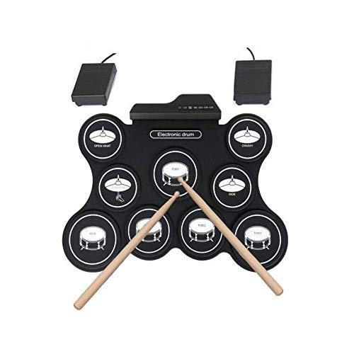 GH-YS Kompaktes elektronisches Schlagzeug-Kit Tragbares elektronisches USB-Schlagzeug aus Silikon, Schlaginstrument für Erwachsene und Kinder 0315