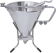 KWIK PRO Automatic Professional Stainless Steel Piston Funnel, Capacity 2qt