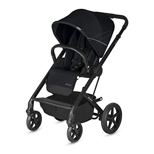 CYBEX Gold Kinderwagen Balios S, Ab Geburt bis 17 kg (ca. 4 Jahre), Lavastone Black