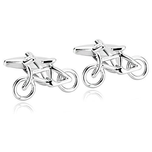 Epinki Uomo Acciaio Inossidabile Argento Bici Bicicletta Ciclismo Ciclisti Forma Gemelli per Matrimonio Business
