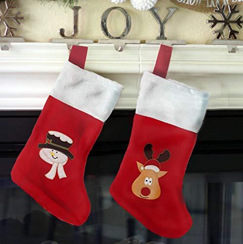 kamiustore Calza di Natale - Calze da Appendere per Natale ed Epifania- per Regali, Caramelle,...
