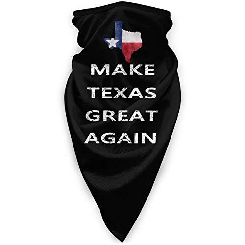 Bklzzjc Make Texas Great Again Unisex Bufanda Deportiva a Prueba de Viento Calentador de Cuello al Aire Libre Bandana Pasamontañas Sombreros