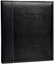 ZOVIEW Leather Photo Album Holds 3X5, 4X6, 5X7, 6X8, 8X10 Photos, Dust-Free, Air-Free, and Waterproof, Hand Made DIY Albums (Black, Medium)