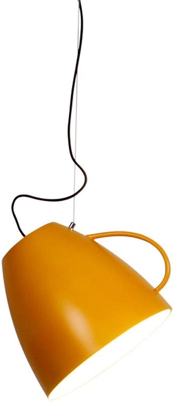 Ein-Licht verstellbare Mini-Pendelleuchte kreativer Wasserglas-Kronleuchter nordische moderne minimalistische Beleuchtung Macaron-Becherlampe Restaurant-Café-Schlafzimmer-Nachttisch Eisen gebürstet