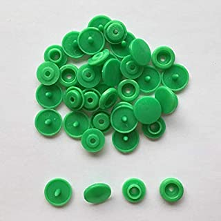 YBAA New 10 Sets T5 12mm Round Plastic Snap Buttons for Children Clothes DIY Sewing Accessories Press Button Baby Clothing Accessory (Color : Light Green)