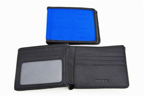 JDM BRIDE Seat Gradation Logo Wallet Custom Stitched Leather Racing- Blue