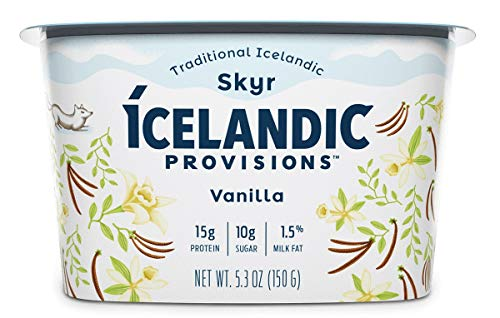 Icelandic Provisions Vanilla Skyr Yogurt, 5.3 Ounce (Pack of 12)