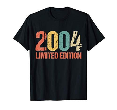 17. Geburtstag Junge Mädchen 17 Jahre Party 2004 Geschenk T-Shirt