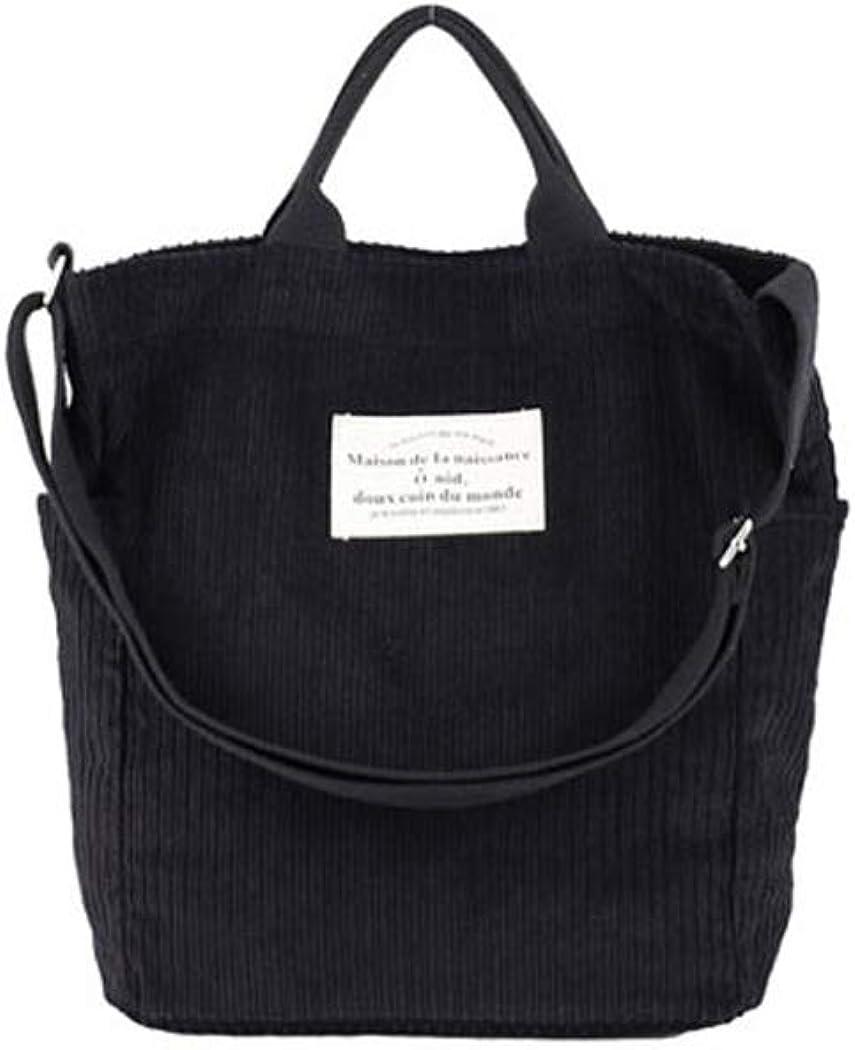 Danling/&Unique Women Corduroy Shoulder Bag Casual Handbag Fashion School Bag Crossbody Bag