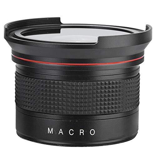58MM 0,35X Fisheye Super-Weitwinkelobjektiv, professionelles asphärisches Ultra-Weitwinkel-Fisheye-Objektiv für SLR-DSLR-Kamera Schwarz