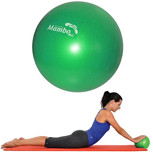 Mvs Bola 21-23 cm blanda + 2 tapones + pajita, pilates gimnasia Yoga Gym Soft Over Ball - Verde
