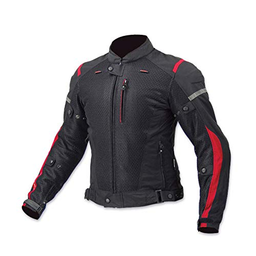 QQA Chaquetas de Motociclista Textil Impermeable Repelente al Agua Traje de Rally Anticaída,4,M