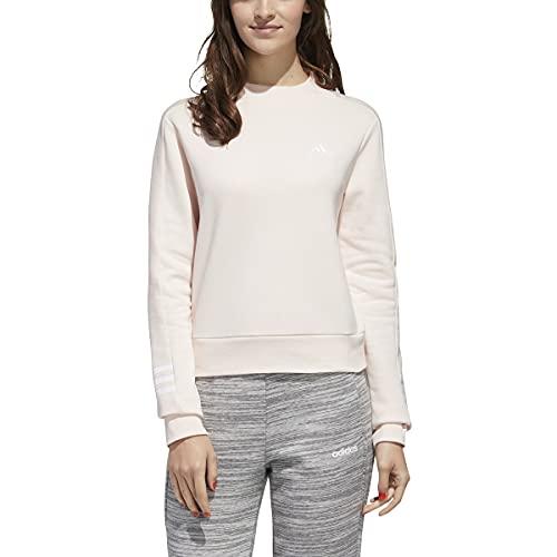 adidas womens Essentials Comfort Mock Crew Sweatshirt pink tint X-Small