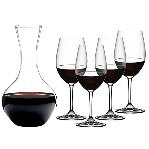 WANGLX Decantador de Vino Soplado a Mano Cristal Sin Plomo Accesorios para Decantador de Vino Jarra Idea