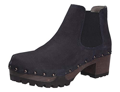 Softclox S3358 Isabelle Nubuk - Damen Schuhe Stiefel - 23-blau, Größe:40 EU