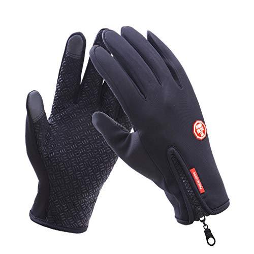 Colorcasa 2019 Amazing Thermala Premium Thermal Windproof Gloves (Unisex)- Xmas Gifts (Black, XL)