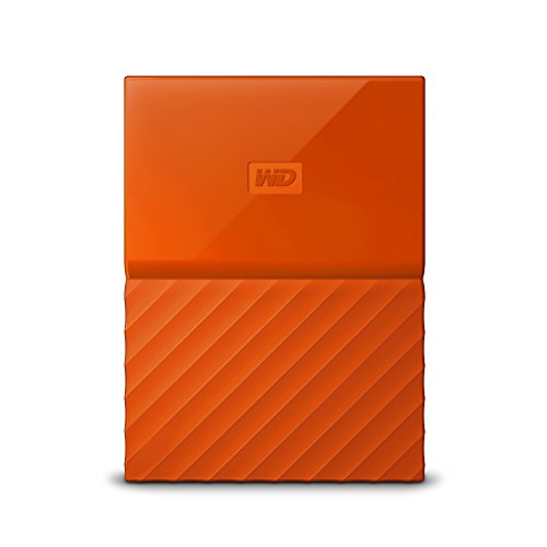 Western Digital My Passport - Disco Duro portátil y Software de Copia de Seguridad automática para PC, Xbox One y Playstation 4, Acabado estandar, Naranja