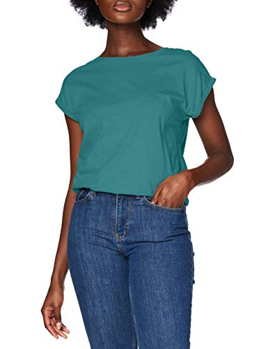 Urban Classics Damen Ladies Extended Shoulder Tee T-Shirt, Teal, L