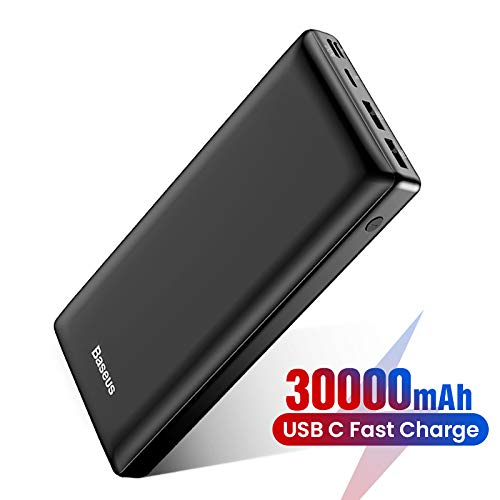 Baseus Batería Externa 30000mAh,Power Bank Cargador Móvil Portátil con USB C PD para iPhone iPad Samsung Dispositivos Android Tablets y Más Nergo
