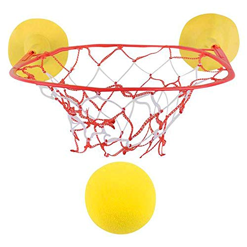 ArtCreativity Basketball Game Set for Kids, Includes 1 Foam Ball & 1 Net Hoop with Suction Cups, Fun Bathtub Basketball Hoop, Indoor Basketball Set for Home, Office, Best Gift for Boys & Girls