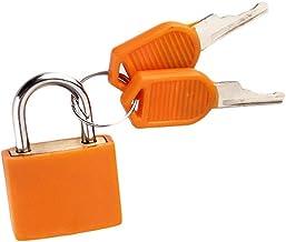 Kunststof hangslot met 2 sleutels kleine gekleurde messing hangsloten voor gereedschapskist, dagboek, schooltas, koffer (o...
