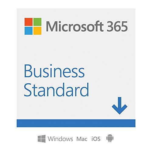 Microsoft 365 Business Standard | per 1 persona | fino a 5 PC/Mac + 5 dispositivi mobili + 5 tablets | 1 abbonamento annuale | Codice di attivazione via email