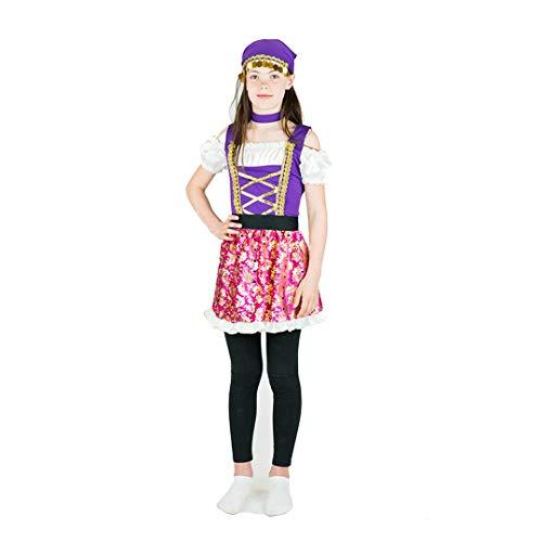 Bodysocks meisjes Gypsy prinses Fancy jurk kostuum (6-8 jaar)