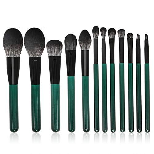Pinceau de maquillage Fond de teint Eyeliner Eyeliner Foundation Pinceaux de maquillage cosmétiques Idéal pour une utilisation quotidienne et professionnelle (12 PCS)