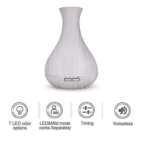 DINGYUFA 550ml humidificador de Vapor frío con hasta 10 Horas de Uso Continuo - humidificadores para el hogar, Yoga, Oficina, Dormitorio