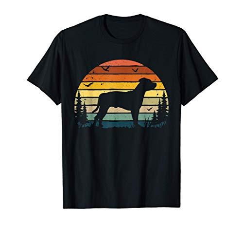 Staffordshire Bull Terrier Mamá Papá Perro retro antiguo Camiseta