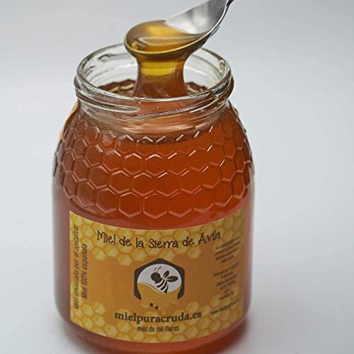 Miel de la Sierra de Ávila Envasada Directamente de Apicultor, 100{311bef2ad6c80436db834e425c0cb1ffbab0f70ca8c1179f34a6f7c8fc60a3b4} española. 1 kilo Neto. Natural y Pura.