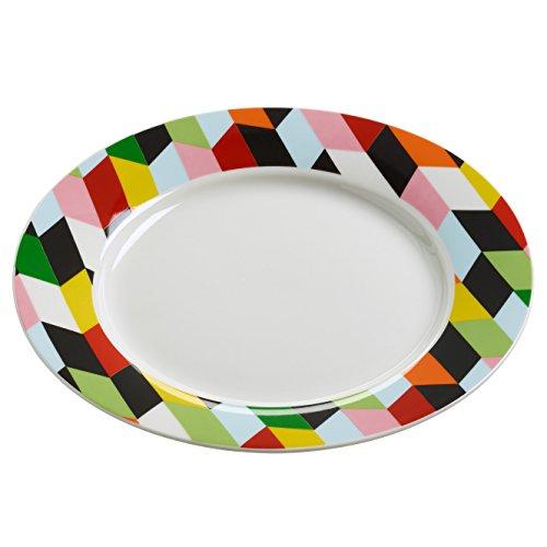 Maxwell & Williams rl0031 Assiette, Porcelaine, Multicolore, 11.4 x 35,6 x 55.2 cm