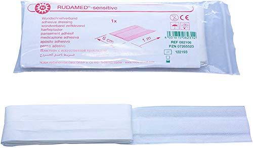 Rudamed sensible 6 cm x 1 Mètre Pansement de plaie avec revêtement non-tissé