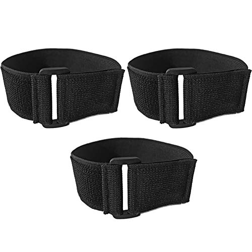 i2 Gear Universal Elastic Armband Straps for All Models of iPod with Silicone, Leather, PVC Case and Sport Arm Bags with Armband Slots - 3 Pack, 15 inches x 1.5 inches
