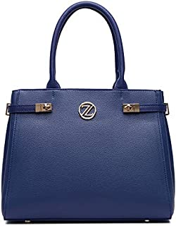 Zeneve London Elizabeth Satchel Bag for Women - Blue