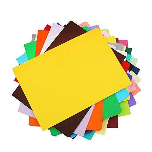 Lhbfcy DIN-A4 Ton-Karton Bunt Farbigen A4 Kopierpapier Papier Ton-Zeichen-Papiere Bunt Bogen Durchgefärbt Bastel Zubehör Kopierpapier Ton-Zeichen-Pappe Zum Basteln,Bunte Blätter-Set Farbig (60 Blatt)