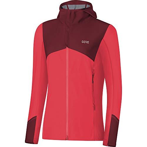 GORE WEAR R3 Windstopper Hooded Jacket Women Hibiscus pink/Chestnut red Größe 42 2019 Laufjacke
