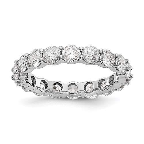 14k Rose Gold Shared Prong Diamond Eternity Wedding Band Ring (2.85 cttw)