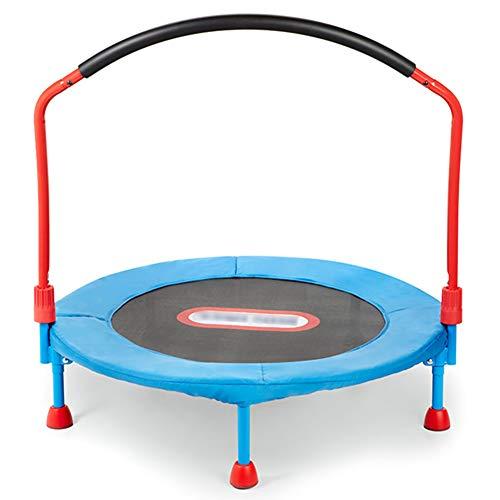Yshca Fitness-trampoline, 36 inch, mini-trampoline, met handgreep, verstelbaar, met randbescherming, gordelsysteem voor kinderen, maximale belasting