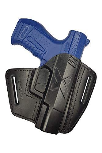 VlaMiTex U5 Leder Schnellziehholster Holster für Walther P99 PPQ M2 und Smith and Wesson SW99