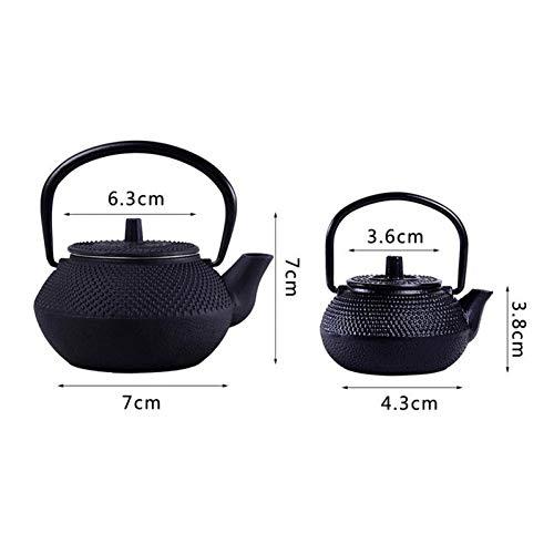 KFHTM Hohe Qualität 50Ml / 300Ml / 550Ml / 900Ml Mini Gusseisen Wasserkocher Teekanne Tee-Set