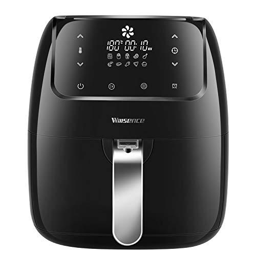 Heißluftfritteuse, Willsence 3,5L 10-in-1 Intelligent Airfryer Elektro-Öl Free, Touchscreen-Steuerung, Spülmaschinenfest, Metall-Innengehäuse (Schwarz-Neu)