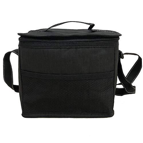 NOVAGO Petit Sac glacière Sac Repas Déjeuner Isotherme Imperméable Pliable Lunch Bag (Noir)
