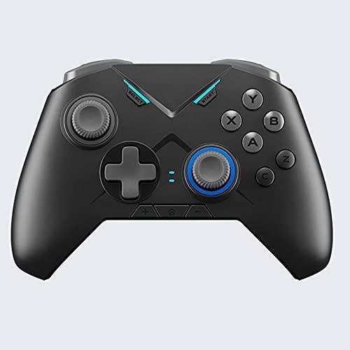 Zexrow Mando para Nintendo Switch, Mando Pro Controller Mando Pc Inalambrico con Función Gyro Axis/Dual Shock Y Turbo Compatible con Nintendo Switch (Color : Black2)