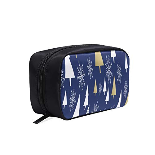 Carry On Trousse de toilette Bleu Happy Dreamy Holiday Christmas Medium Makeup Bag Funny Makeup Bag Travel Bags Makeup Cosmetic Bags Multifunction Case Medium Makeup Bag