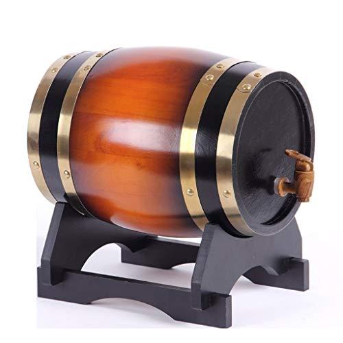 Toneles de Vino Barril de Roble Barril de Madera Barril de whisky de roble, Dispensador de vino de roble de madera vintage para elaborar cerveza o almacenar Whisky Cerveza brandy Ron (5L)