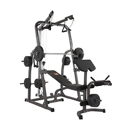 Hammer, Stazione di Fitness Multifunzione Solid XP, con Set di Pesi e aste, Nero/Antracite, 240x 153x 216cm